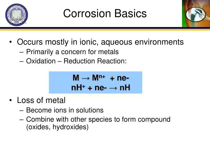 Corrosion Basics