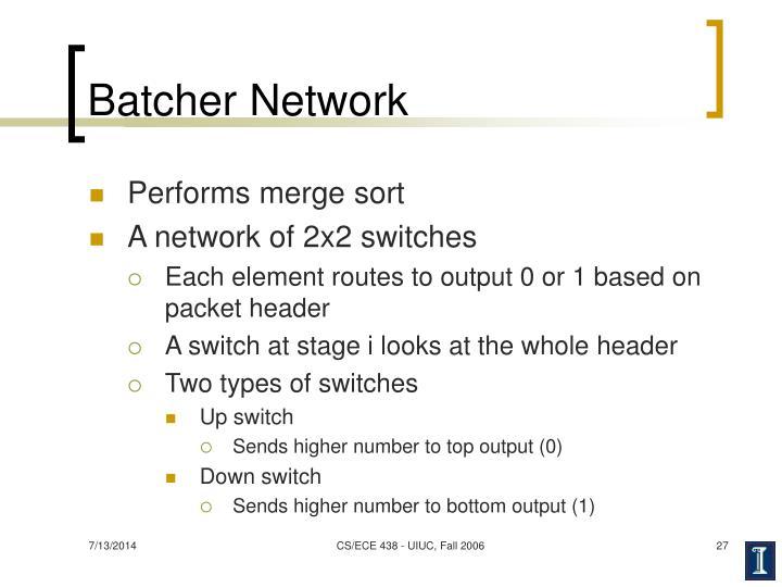 Batcher Network