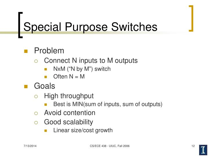 Special Purpose Switches