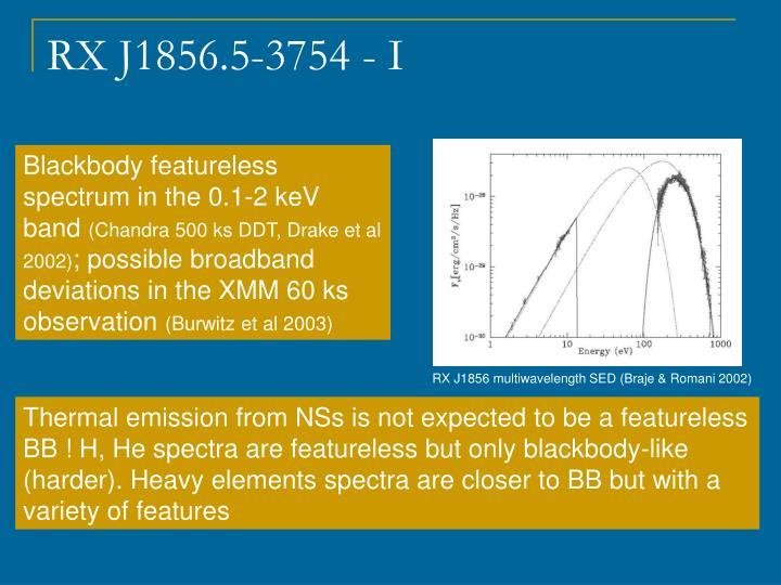 RX J1856 multiwavelength SED (Braje & Romani 2002)