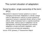 the current situation of adaptation1