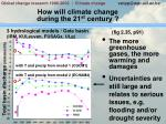 how will climate change during the 21 st century1