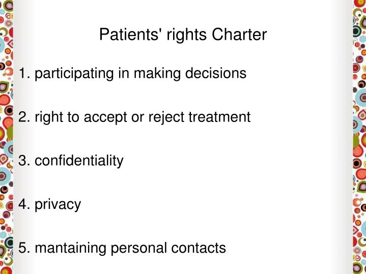 Patients' rights Charter