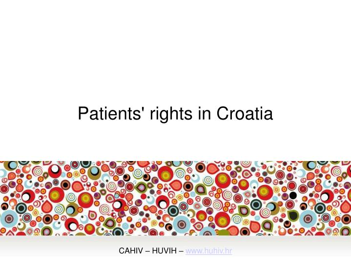 Patients rights in croatia