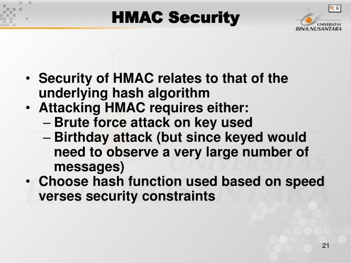 HMAC Security