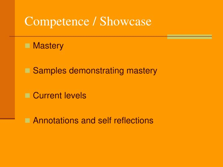 Competence / Showcase