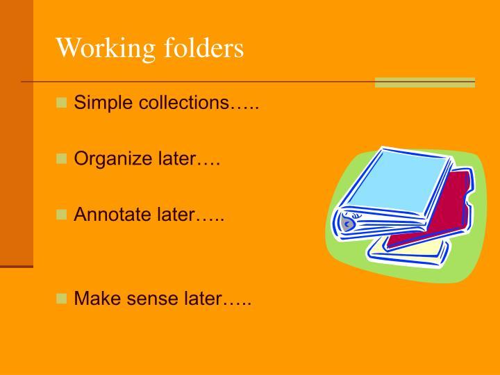 Working folders