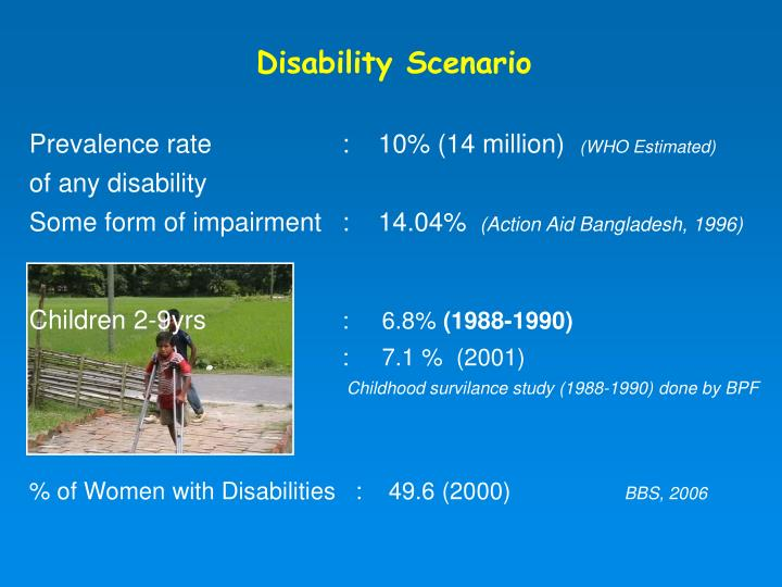 Disability Scenario