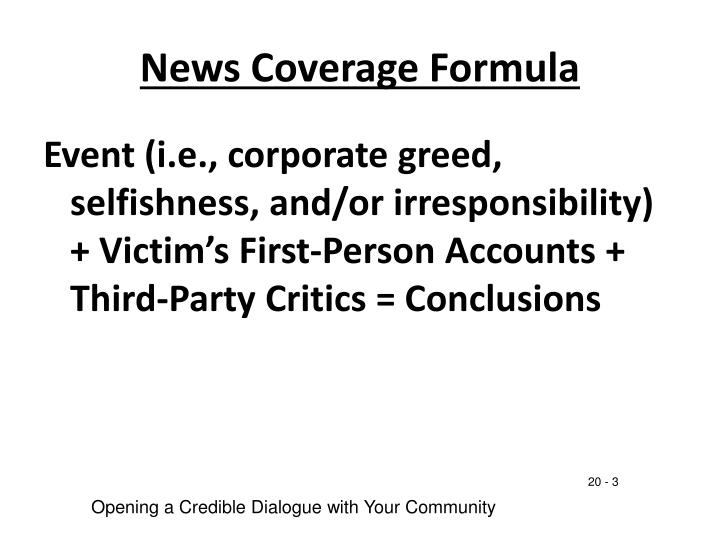 News Coverage Formula