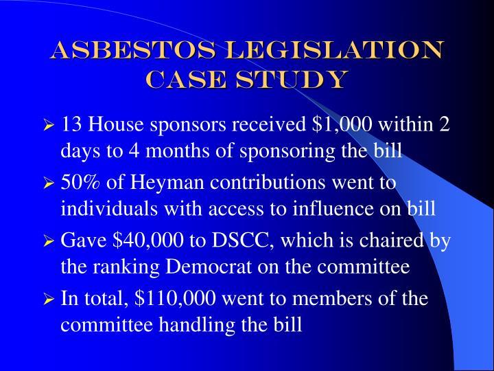 Asbestos Legislation Case Study