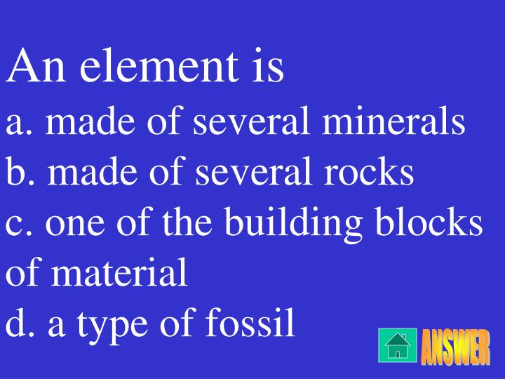 An element is