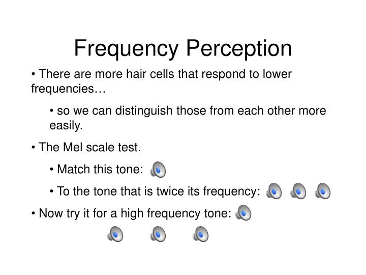 Frequency Perception