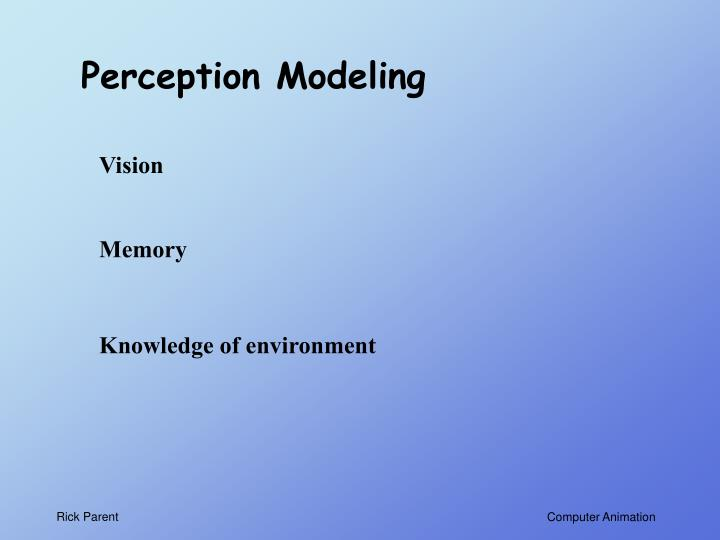 Perception Modeling