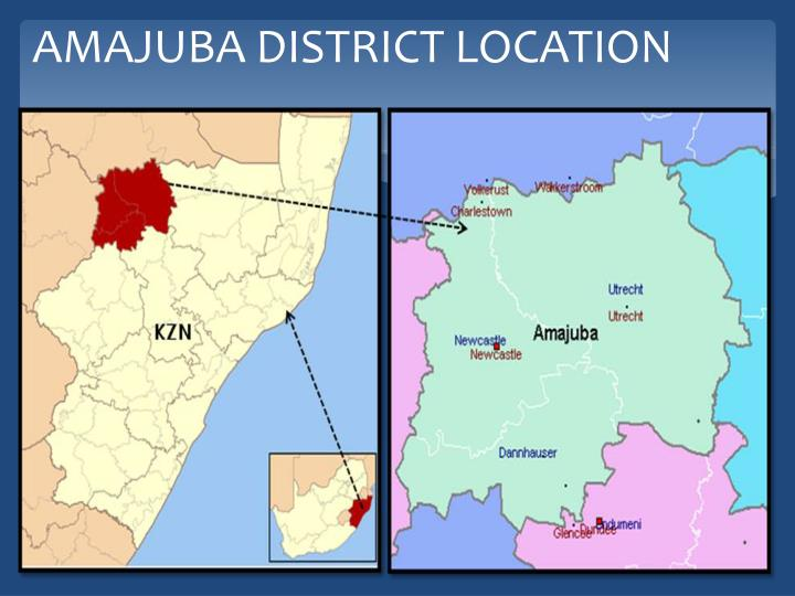 Amajuba district location