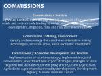 commissions