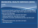 municipal health services mhs c ont