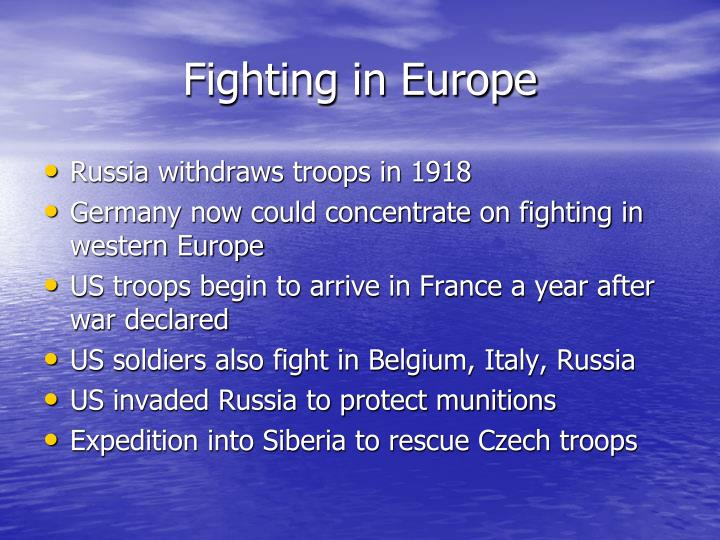 Fighting in Europe