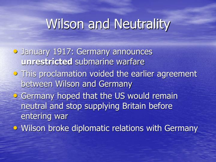 Wilson and neutrality