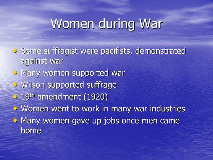 Women during War