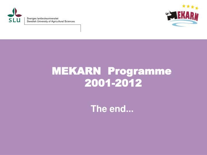 MEKARN  Programme