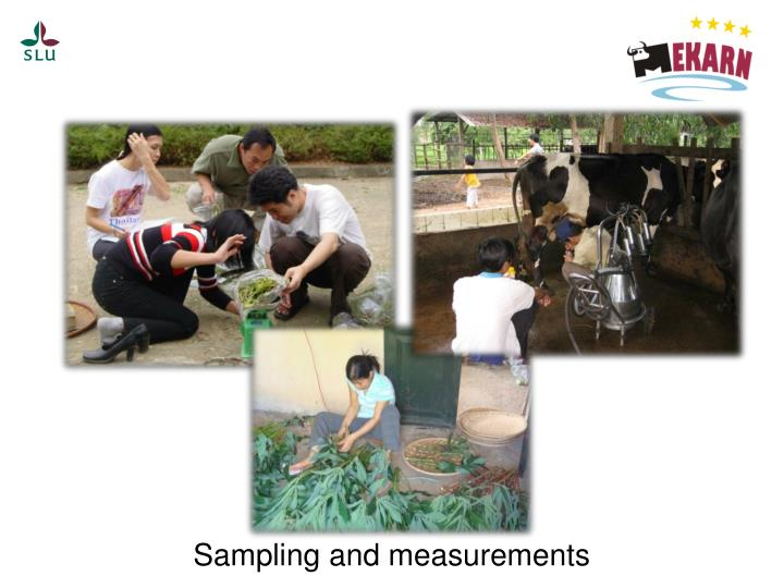 Sampling and measurements