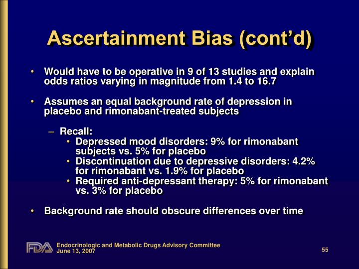 Ascertainment Bias (cont'd)