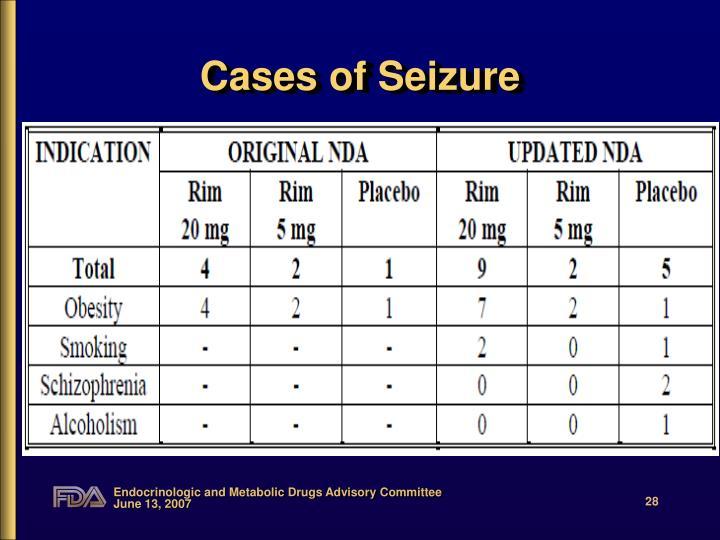 Cases of Seizure
