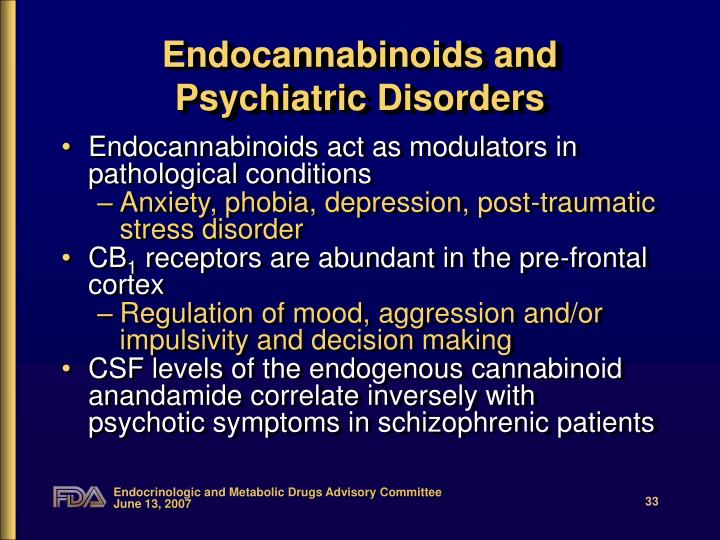 Endocannabinoids and Psychiatric Disorders