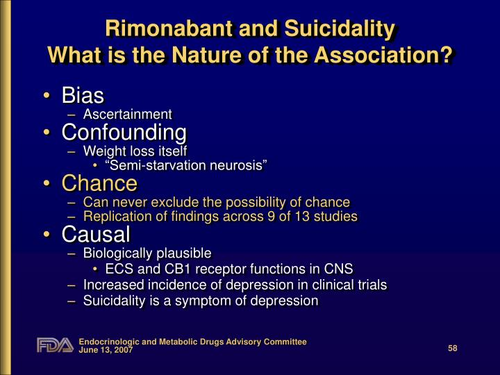 Rimonabant and Suicidality