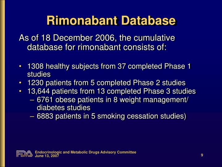 Rimonabant Database