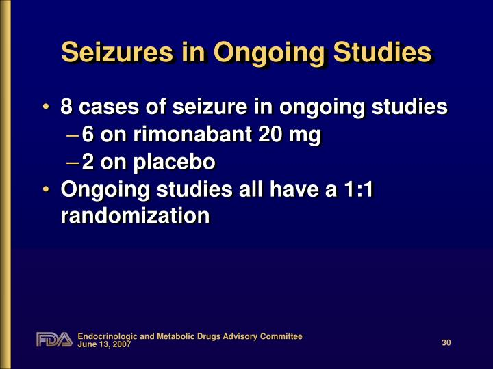 Seizures in Ongoing Studies