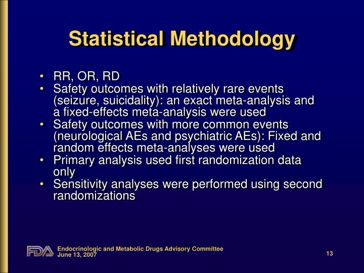 Statistical Methodology