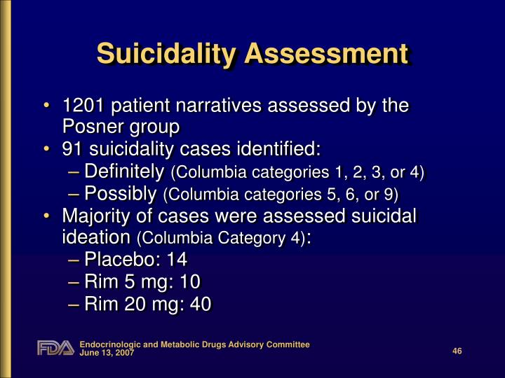 Suicidality Assessment