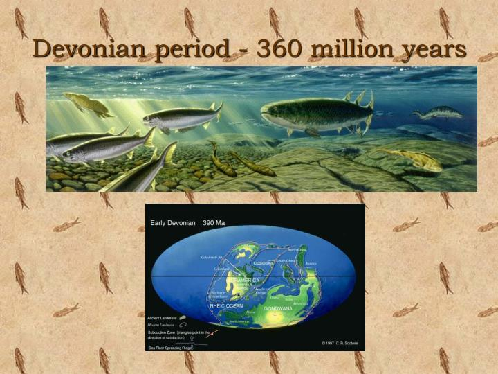 Devonian period - 360 million years