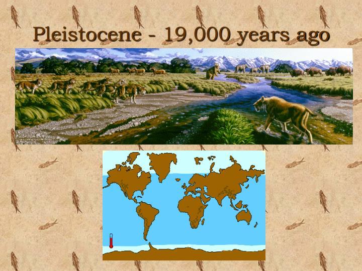 Pleistocene - 19,000 years ago
