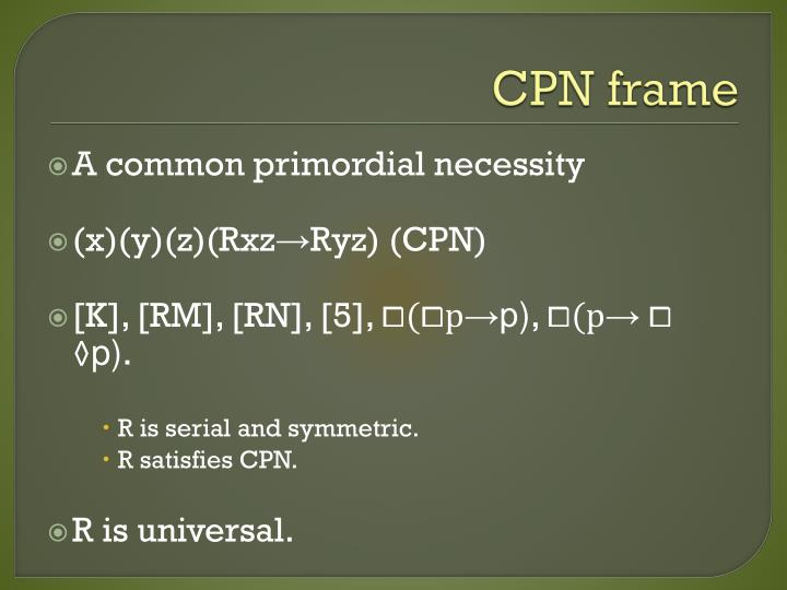 CPN frame