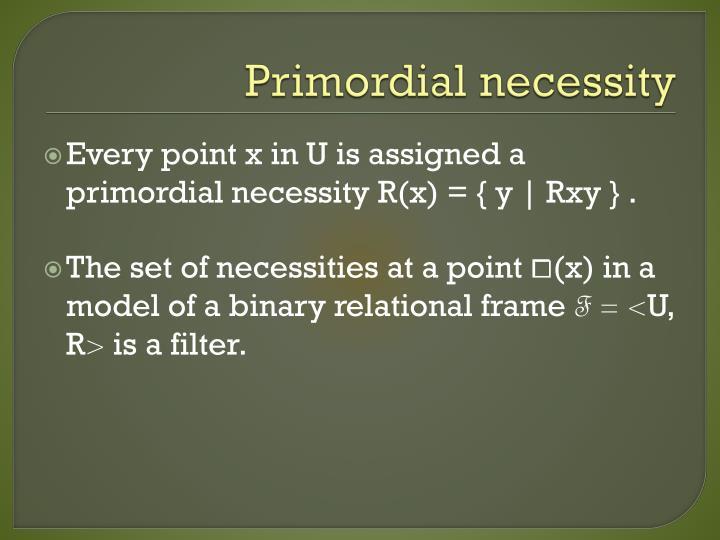 Primordial necessity