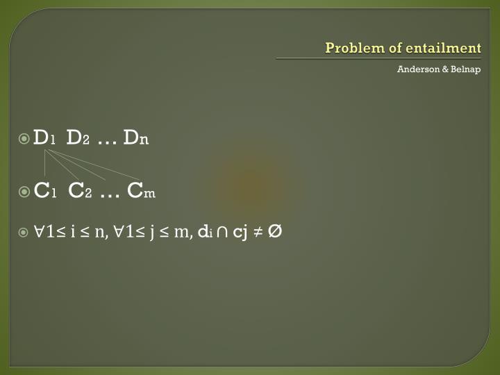Problem of entailment