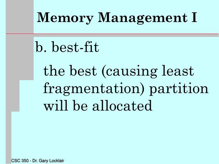 Memory Management I