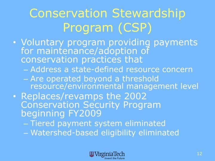 Conservation Stewardship Program (CSP)