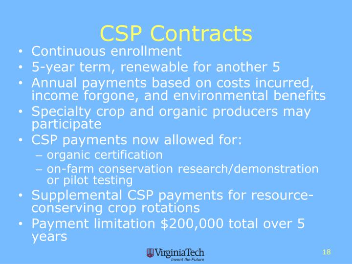 CSP Contracts