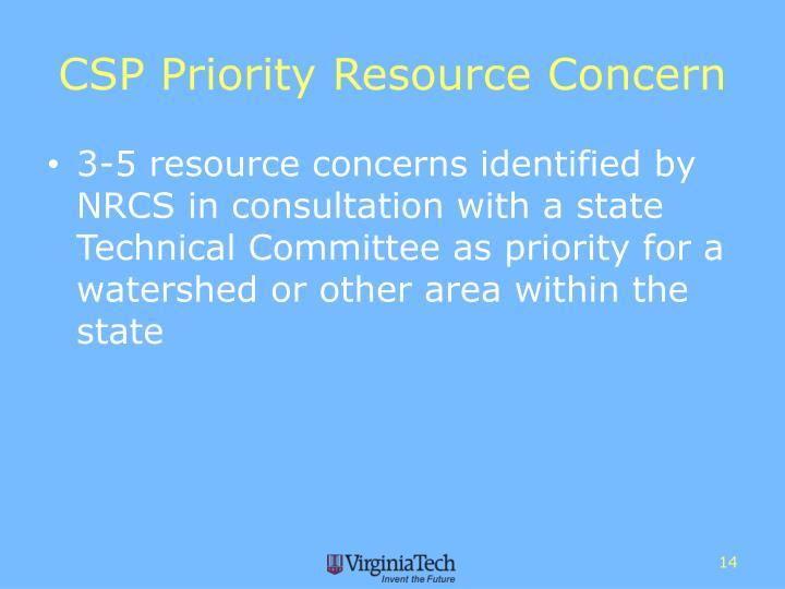 CSP Priority Resource Concern