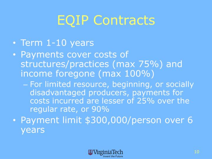 EQIP Contracts