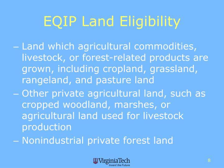 EQIP Land Eligibility