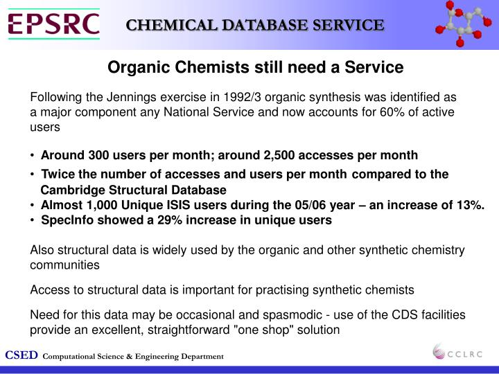 Organic Chemists still need a Service