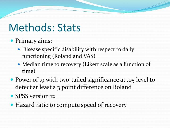 Methods: Stats