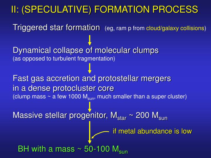 II: (SPECULATIVE) FORMATION PROCESS