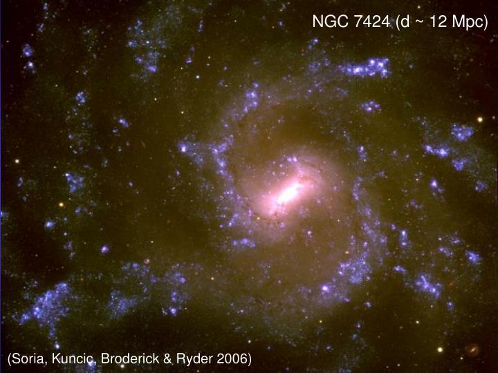 NGC 7424 (d ~ 12 Mpc)