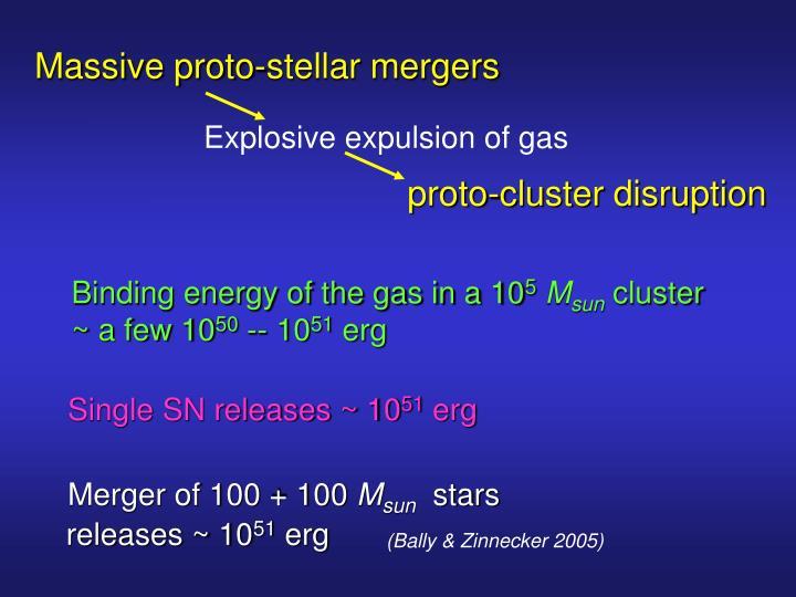 Massive proto-stellar mergers