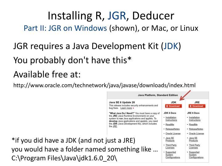 Installing R,